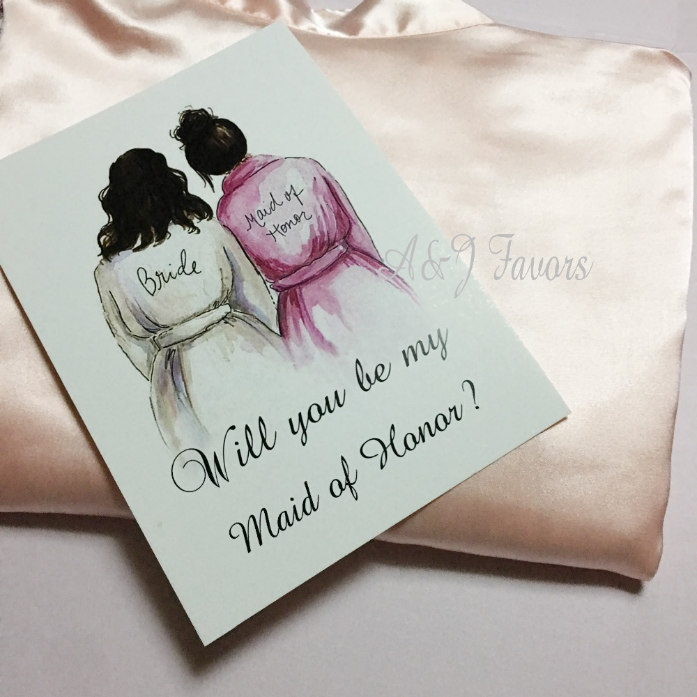 5pcs Lot Personalized Will You Be My Bridesmaid Matron