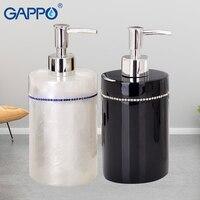 GAPPO liquid soap dispensers Hand Pump Liquid Soap Bathroom resin Bottle Bath resin accessories soap dispensers
