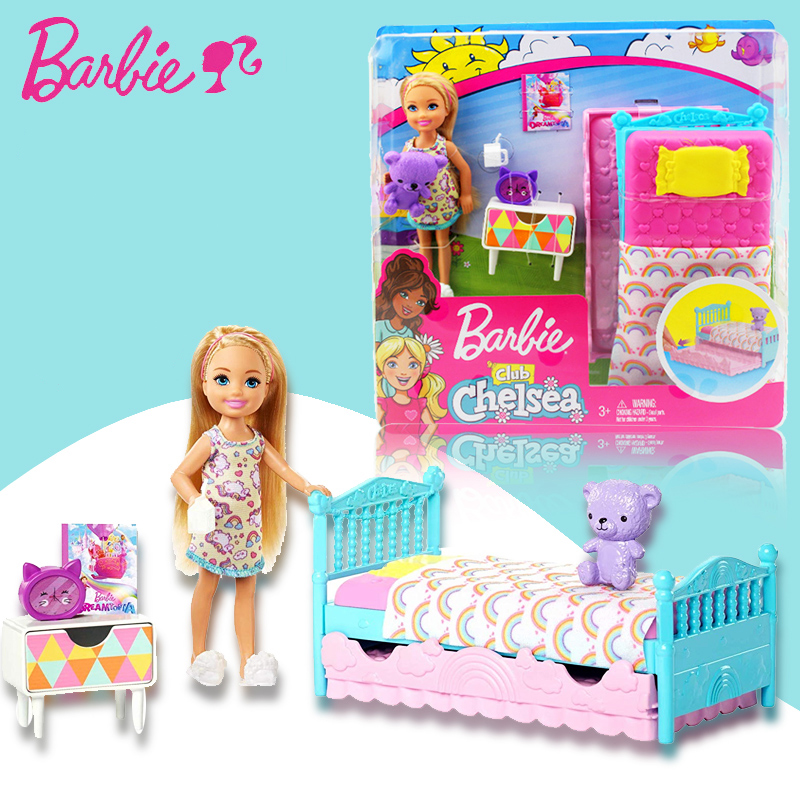 Original Barbie Club Chelsea Doll Princess Girl Sleeping House Barbie Bed Fashion Girl Funny Puppy Children Toys Fxg83 Dolls Aliexpress