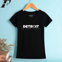 LUCKYFRIDAYF Detroit Become Human 100% Cotton T-shirt Game Short Sleeve Tops Tees Clothes Casual Plus Size