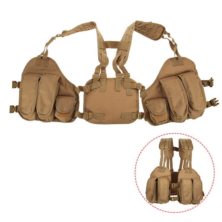 Outdoor Hunting Vest chalecos airsoft  Chest Bag 3