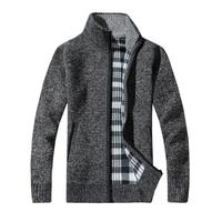 2017The North Of New Cotton Men S Coat Autumn Winter Knitting Cotton Stand Zipper Stand Thick