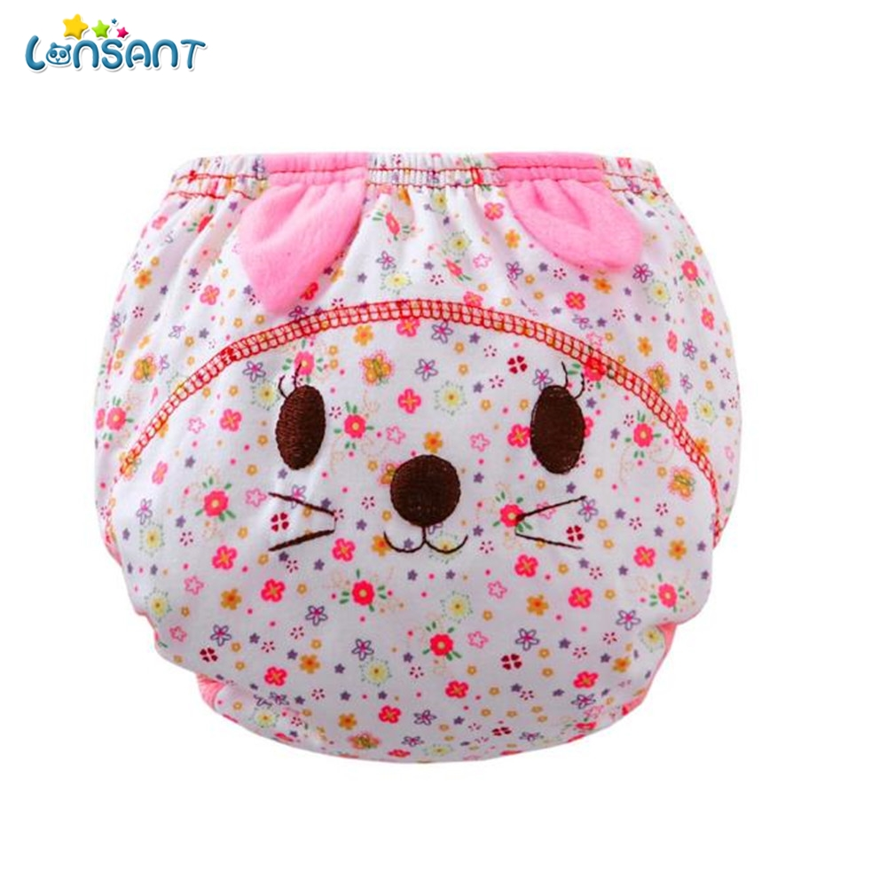 LONSANT Cotton Diaper Coth Hot Sale Baby Infant kids Animal Cartoon Ruffle Panties Brief ...