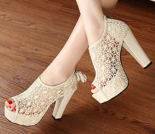 Free Shipping Low Price High Heel Pumps For Women Beige