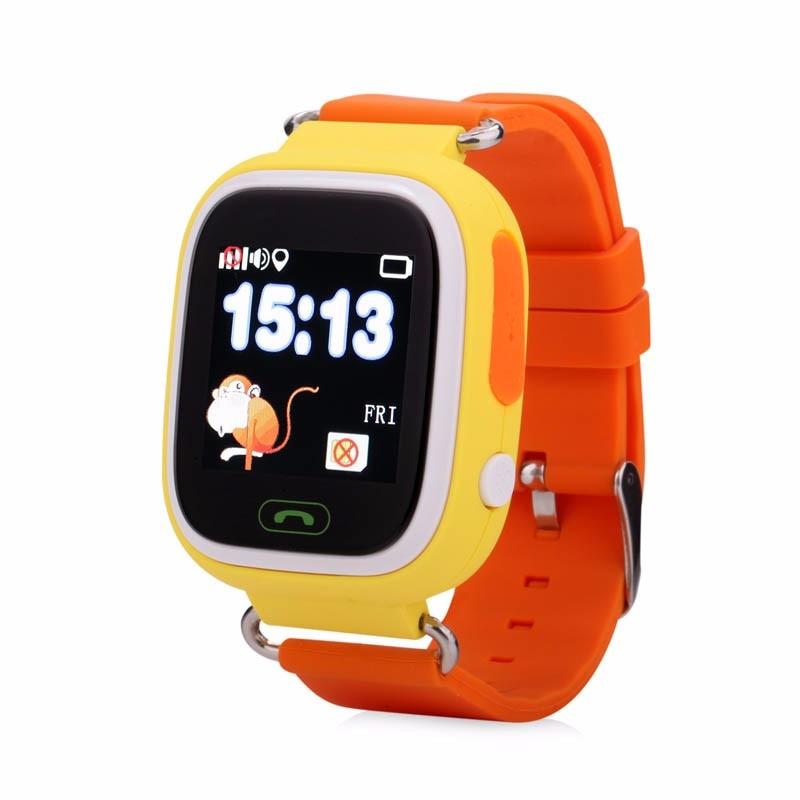 Smart Safe Q90 niños bebé reloj SOS llamada GPS WIFI ubicación Tracker Anti perdido recordatorio de alarma Monitor Smartwatch IOS
