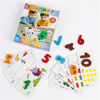 Educational Digit Leaning Cards Kids Early Learn Education Toys Harmless Paper Cognitive Number Card For Children