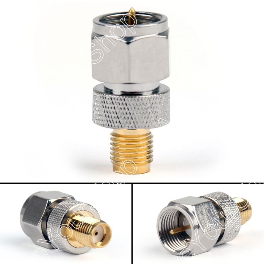 Areyourshop Sale 10PCS Adapter F TV Plug Male To SMA Female Jack Screw thread Antenna Auto Radio  Mi areyourshop sale 10pcs adapter bnc female jack to sma male plug rf connector straight gold plating