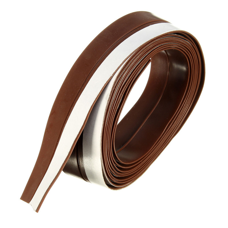 New Arrival Slicone Rubber 25mm Width Silicone Rubber Bottom Door Window 2M Adhesive Seal Strip Weatherstrip