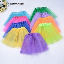 YWHUANSEN – robe de soirée en Tulle 3 couches pour filles, jupe Tutu blanche de princesse pour enfants, Costume de danse d'été court et moelleux