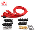 PRECISION AUTO LABS Universal Spark Plug Ignition Wire Red 8 Cylinders Super Stock Suppression