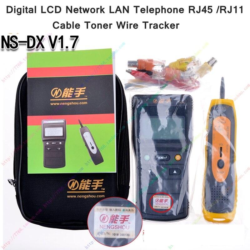 ReadStar NS-DX V1.7 numérique LCD affichage réseau LAN téléphone RJ45/11 câble Toner fil détecteur ligne Toner traceur testeur - 2