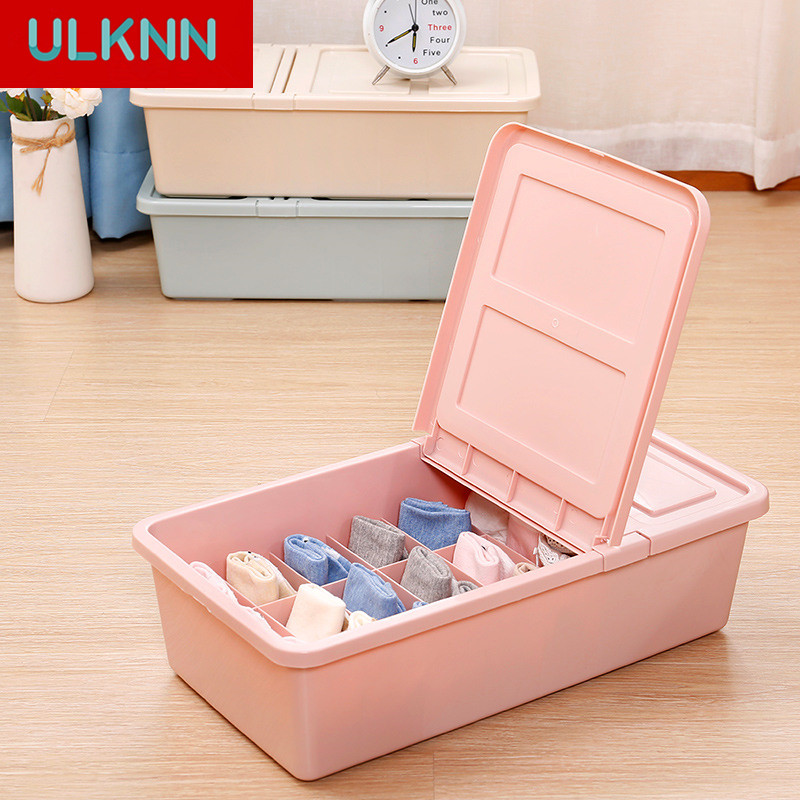 PP Underwear Box Socks Store Content Box Friendly PP Material Plastic Bra for Home Use Organizador