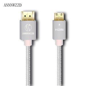 Image 3 - מיני HDMI לכבל HDMI תואם עם HDMI 2.0a/b, 2.0, 1.4a (Ultra HD, 4K, 3D, מלא HD, 1080p, HDR, קשת, Highspeed