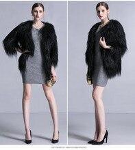 Hot sale Trendy Long Hair Real Goat Fur jackets coats , Sexy ladies natural goat sheep fur outerwear milan Fur coats