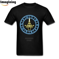 Logo Design For Man Gravity Falls Bill Cipher T Shirts Awesome Homme Tee Shirt 100 Cotton