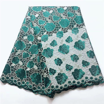 African lace fabric embroidery nigerian lace fabric High quality swiss voile lace  TL1057