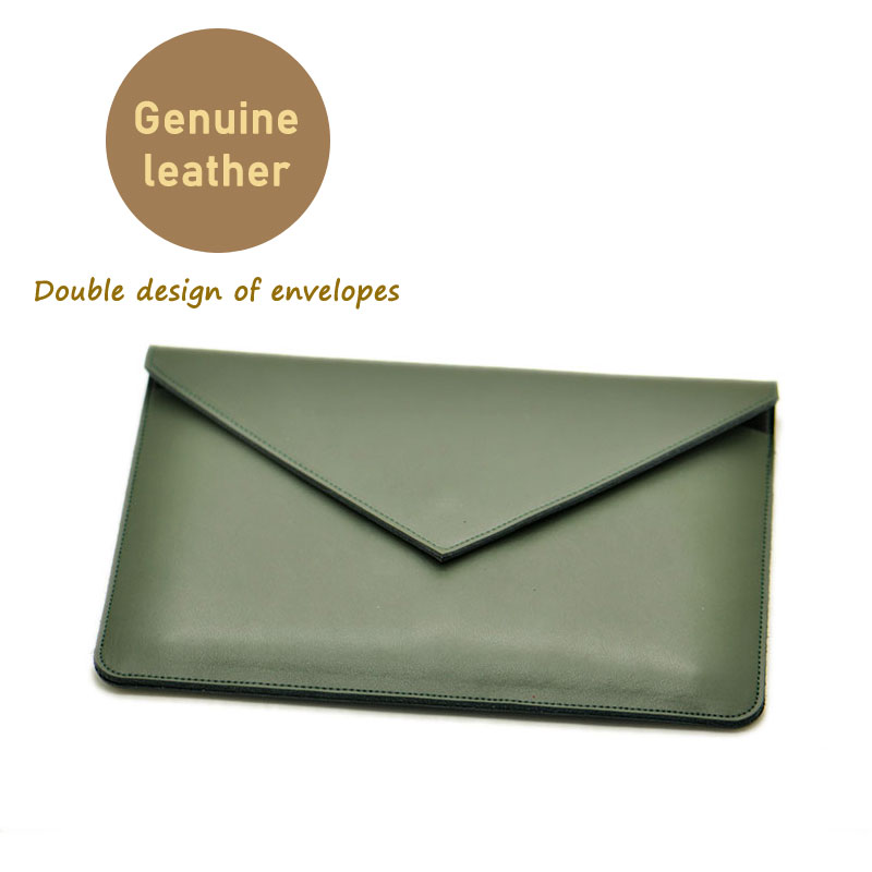 Envelope Laptop Bag super slim sleeve pouch cover,Genuine leather laptop sleeve case for Xiaomi Pro 15.6 inch