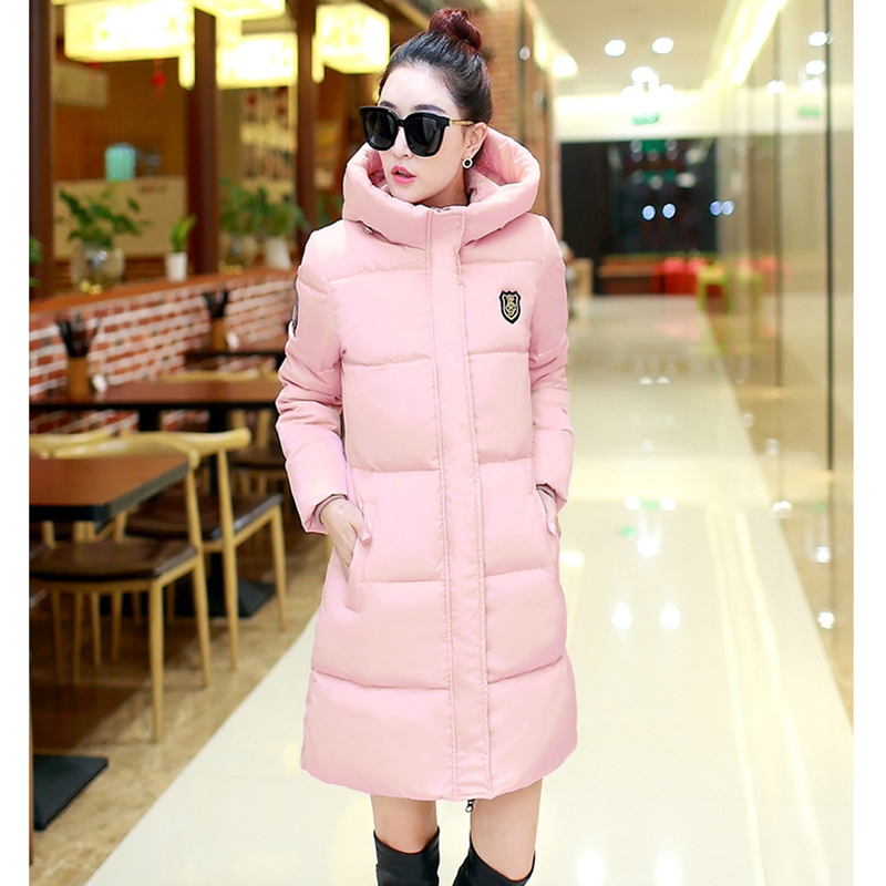 2018 NEW HOT SALE WOMEN WINTER JACKERS MEDIUM LENGTH HOODED THICKEN WARM FEMALE PARKAS SLIM OVERCOAT HIGH QUALITY ZL450