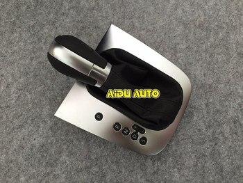 สีดำ Stitch ที่เกียร์ Shift Knob Lever ฝาครอบสำหรับ VW Golf 6 MK6 Jetta MK6
