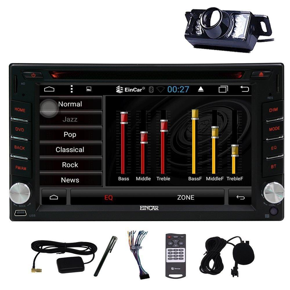 Eincar Universal double 2 din Android 6.0 Car DVD player GPS+Wifi+Bluetooth+Radio+Quad Core+DDR3+Capacitive Screen+car pc+aduio