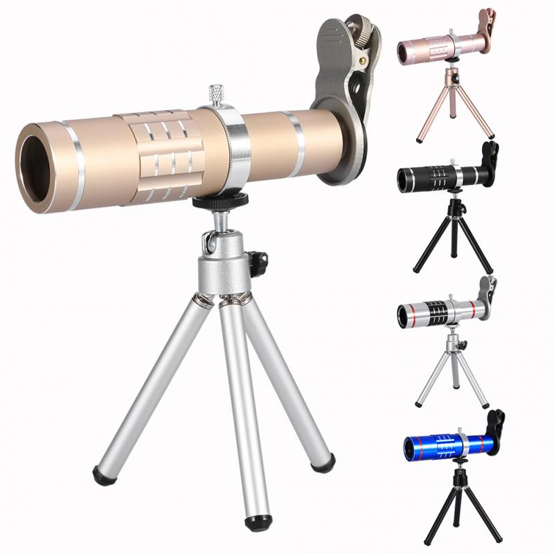 Cell <font><b>Phone</b></font> Camera <font><b>Lens</b></font> Kit Universal 18X Optical <font><b>Zoom</b></font> Telephoto Telescope <font><b>Lens</b></font> with Tripod