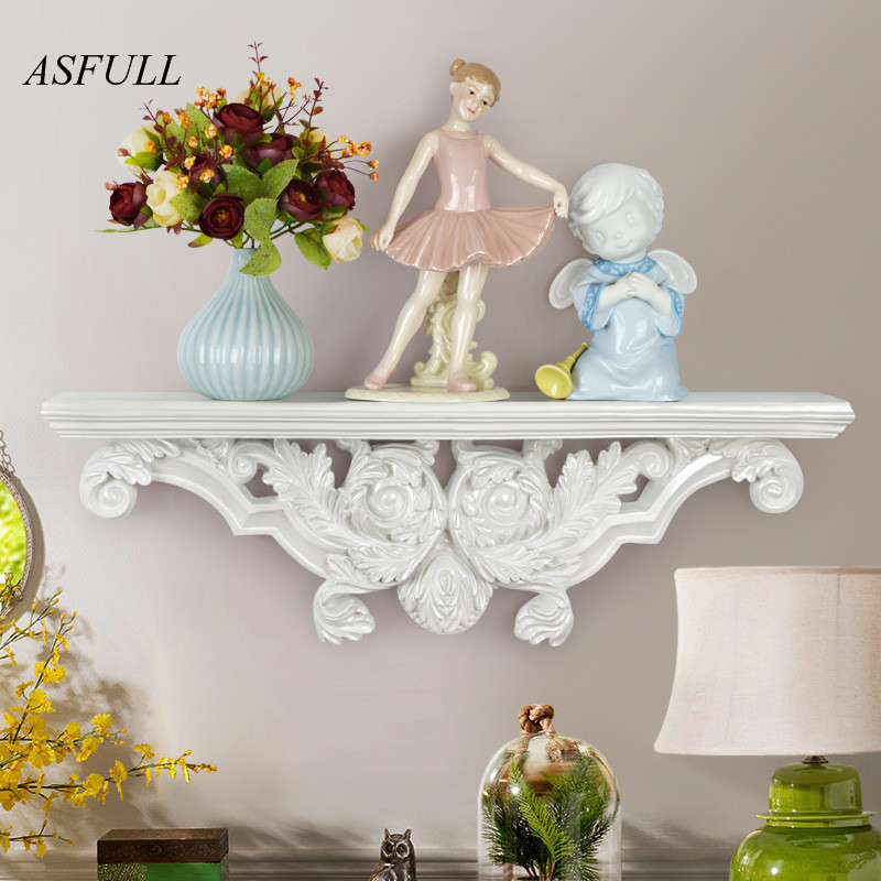 ASFULL European-style creative wall-mounted resin three-dimensional shelves partition shelves living room wall decorations Shelf