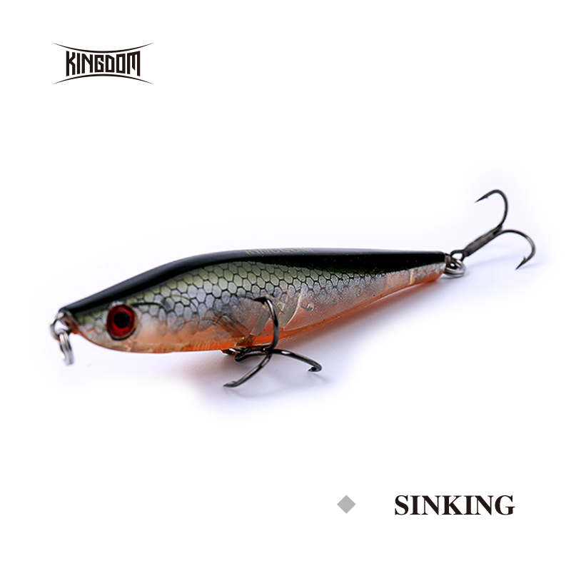 Kingdom fishing lures sinking pencil 65mm 7g 85mm 11g with two vmc hook eight colors available model 5331
