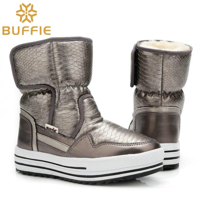 Botas de Mujer Zapatos de invierno de piel caliente resistente al agua superior talla grande moda antideslizante suela envío gratis nuevo estilo de botas de nieve