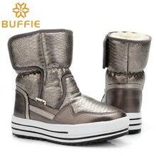 Зимние Ботинки Женщин включают смешанные натуральной шерсти тепловые сапоги леди обувь мальчики и девочки водонепроницаемые ботинки снега обувь бесплатная доставка