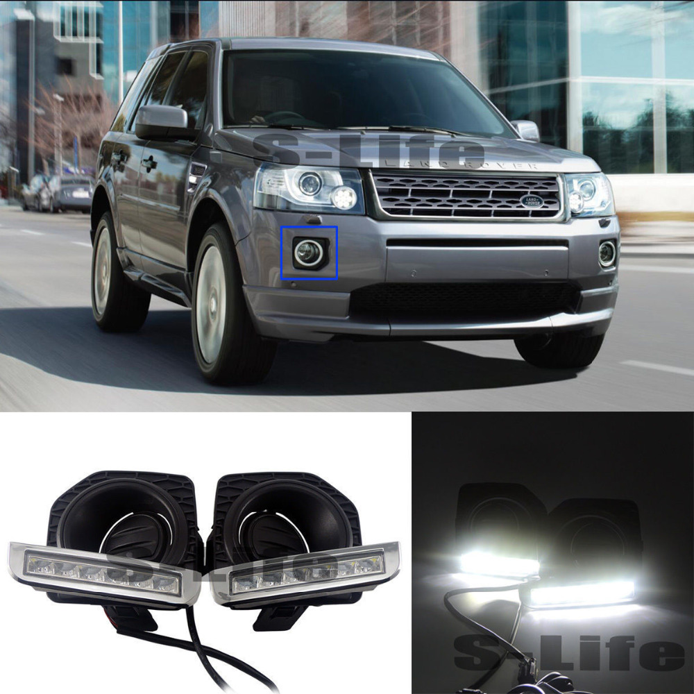 For Land Rover Freelander 2 LED Light Daytime Running Light DRL Bulbs 2012-2016 подвеска компрессор насос oem крышка для land rover lr044026 lr044027