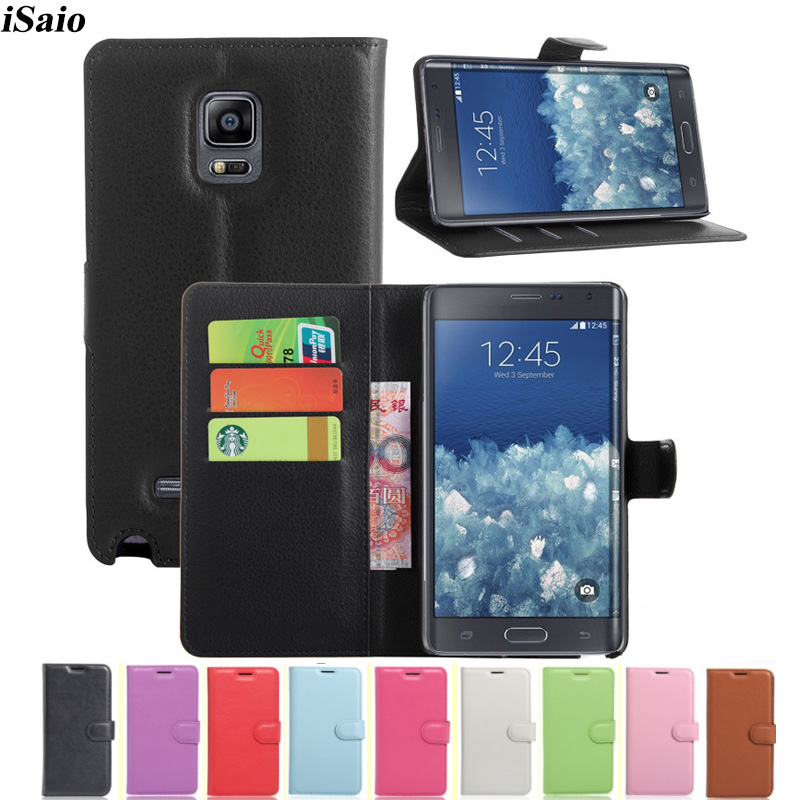 Leather Cover Wallet <font><b>Case</b></font> For Samsung Galaxy Note Edge <font><b>N915</b></font> N9150 Pocket 2 G110H Phone <font><b>Case</b></font> Kickstand with Card Slots image