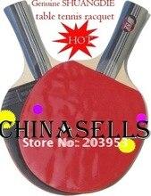 Genuine SHUANFDIE table tennis racket table tennis racquet & ball& cover T.T. racket handshake