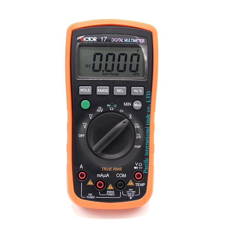 Digital Multimeter  AC/DC VICTOR 17 Portable Handheld Multimeter Auto range capacitance 1000uF Data Hold/Auto power off aimo m320 pocket meter auto range handheld digital multimeter
