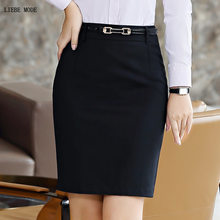 Women Formal Work Wear Pencil Skirt Ladies Bodycon A-line Skirts Plus Size Black Grey Blue Business Career Suit Skirt Women 5XL(China)