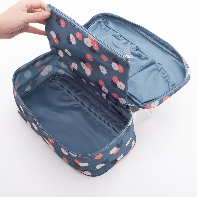IUX Fashion Portable Women Underwear Bags Girl Travel Cosmetic Bags Ladies Makeup Bra boxes Nylon Waterproof Packing Organizers цена 2017