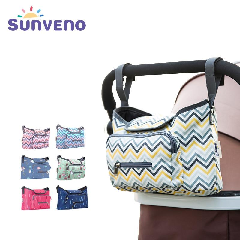 SUNVENO bebé Cochecitos organizador del bolso impermeable del bolso del panal del pañal cochecito de bebé bolsas para mamá