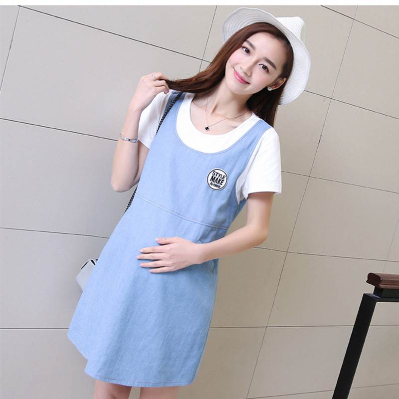 Hot maternity wear summer fashion short-sleeved thin dress loose shirt spring and summer pregnant women dress