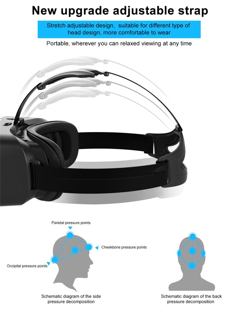 Original Shinecon VR Box 2.0 Google Cardboard Virtual Reality Smartphone Goggles Glasses Headset With Mocute Bluetooth Gamepad 4
