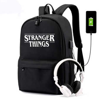 BPZMD Luminous Bag Multifunction USB Charging Stranger Things Travel Canvas Student Backpack For Teenagers Boys Girls School Bag - DISCOUNT ITEM  53% OFF All Category