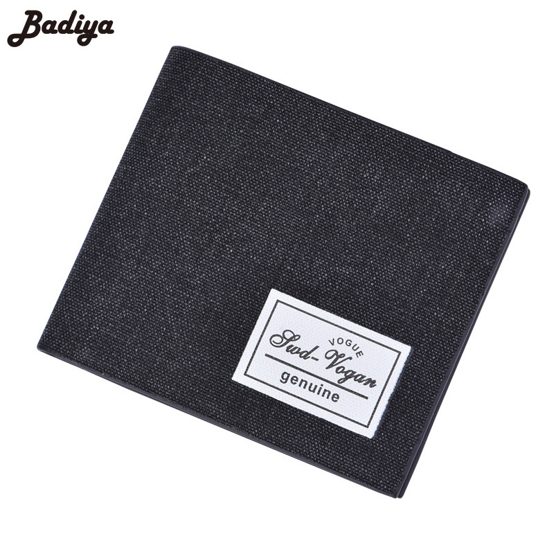 Fashion Bifold Canvas Short Wallet For Men Casual Solid Credit Card Holder Coin Purse Ultra Thin Men's Brief Wallets ot sales men s wallets coin slim pu leather solid bifold credit id card holder coin wallet purse