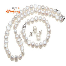 Baroque pearl necklace and Bracelet and Earrings Set Irregular fashion jewelry setBohemia style ball sets
