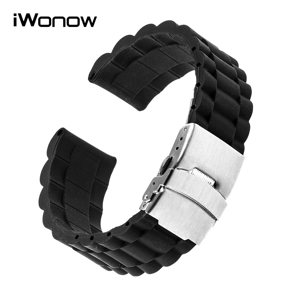 Silicone Rubber Watchband for Garmin Fenix 5S / 5 / Epix / Vivoactive HR Watch Band Steel Safety Buckle Strap Wrist Bracelet silicone watchband strap with pins for garmin vivoactive hr sports gps smart watch with tools