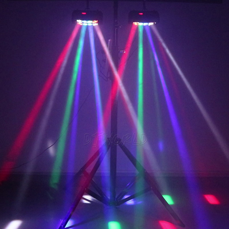 Image 3 - Mini LED Beam 8x6W Spider DMX512 Stage Effect Lighting Good For DJ Disco Party Dance Floor Nightclub And Christmas Decorations-in Stage Lighting Effect from Lights & Lighting
