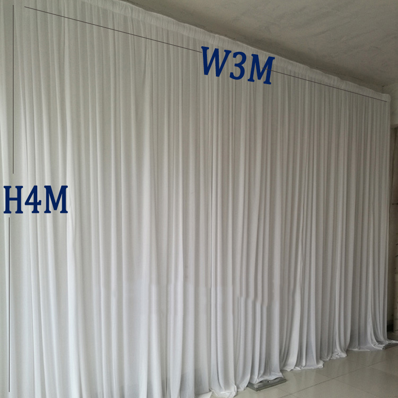 3M width x 4M height white party curtain wedding backdrops stage background curtain decoration3M width x 4M height white party curtain wedding backdrops stage background curtain decoration