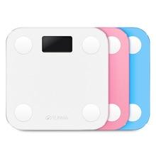 Оригинальный YUNMAI весы Белый Мини Смарт-бытовой Премиум Поддержка Bluetooth APP процент жира Цифровой жира весы