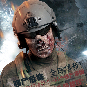 Image 2 - Horror Zombie Half Face Resin Mask For Halloween Masquerade Cosplay 4 Colors Outdoor CS Tactical Protective Mask