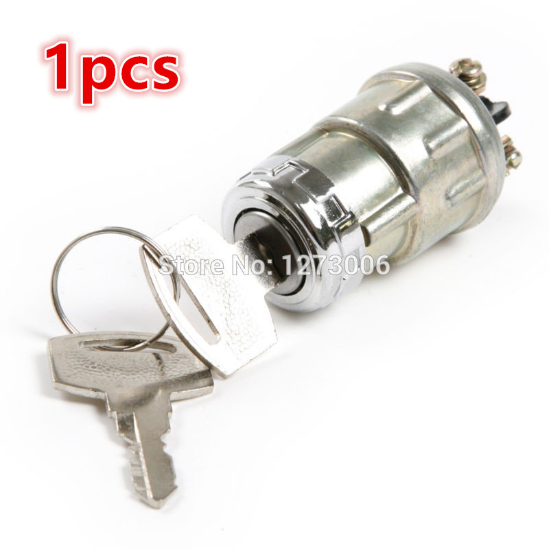 HOT SALE 1pcs Alloy Silver Replacement Car Ignition Swtich Lock Cylinder With Two Keys Universal Cars Accessories Car-styling