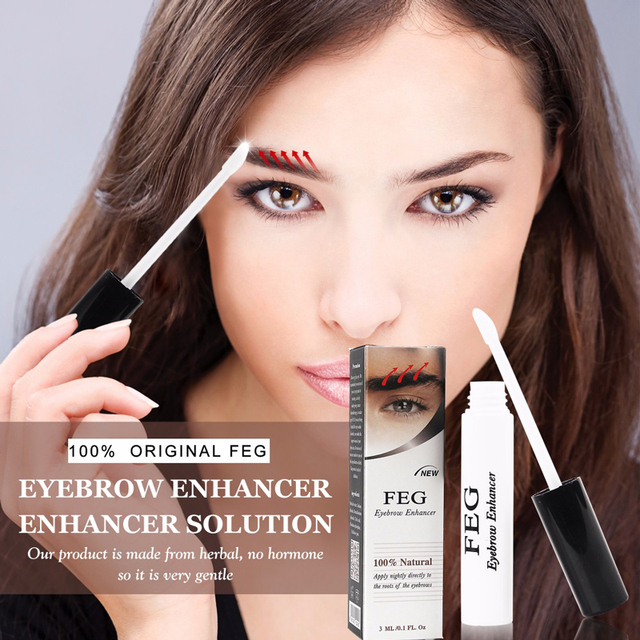 7cfa5e22535 Fast Thick Eyebrow Grow Women Men 100% Original Natural FEG Eyebrow Growth  Serum Eye Lash Growth Liquid 3ML