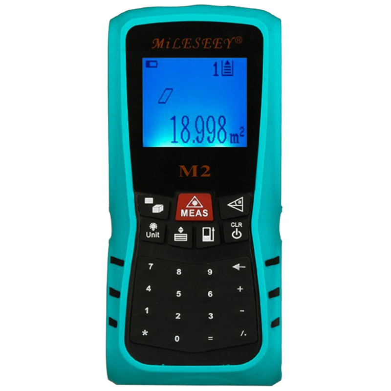 Mileseey M2 Handheld USB Laser Distance Meter Digital Laser Tape Measure With Keybaord Calculator, 40m yihm hm 40 1 8 lcd handheld laser distance meter black blue 2 x aaa 0 05 40m