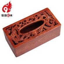 Китайский импорт — класса палисандр красного дерева ткани накачки насосных творческий кассета для бумаги прямоугольные деревянные гостиной